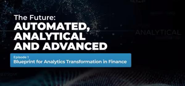 Blueprint for Analytics Transformation in Finance